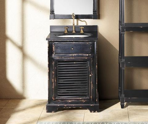 Astrid Antique Black Single Bathroom Vanity From James Martin Furniture - Deals & Ideas - Weathered Bathroom Vanities For A Shabby Chic