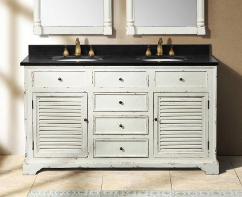 Astrid Antique White Double Bathroom Vanity From James Martin Furniture