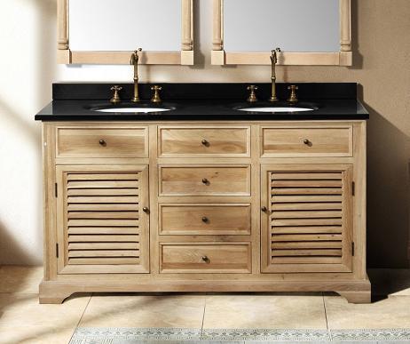"Savannah 60"" Natural Oak Double Bathroom Vanity From James Martin Furniture"