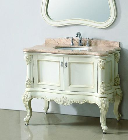 Ornate Antique White Bathroom Vanities