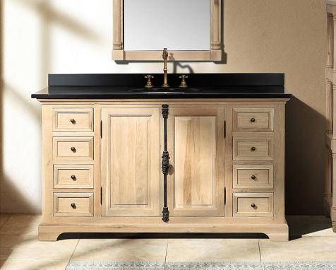 "Providence Natural Oak 60"" Bathroom Vanity From James Martin Furniture"