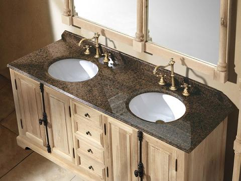 """Providence 72"""" Natural Oak Double Bathroom Vanity From James Martin Furniture"""