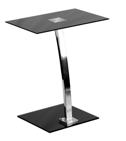 Laptop Computer Desk With Silk Black Tempered Glass Top From Flash Furniture