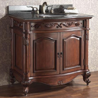 Provence Antique Bathroom Vanity From Avanity - Queen Anne Legs (Or, What To Look For In An Antique Bathroom Vanity)
