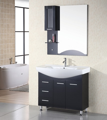 "Sierra 40"" Single Bathroom Vanity With Drop In Sink From Design Element"
