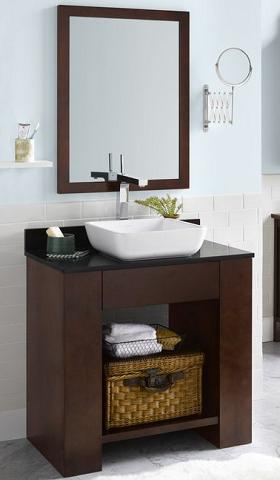 Zenia Open Bathroom Vanity From RonBow