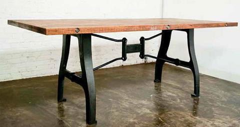 A Leg Dining Table In Reclaimed Hardwood From Nuevo Living