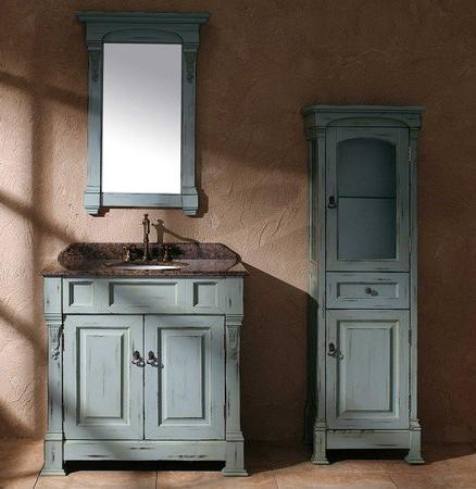 Bosco 36 Inch Vanity In Weathered Ancient Blue From James Martin