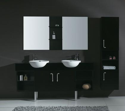 Carlissa Double Sink Vanity With Storace Cabinets And Mirror From James Martin