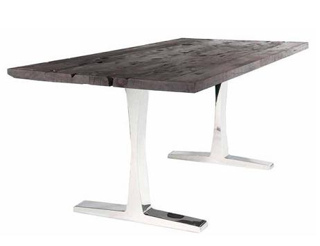 Delta Dining Table In Dark Shipwood From Nuevo Living