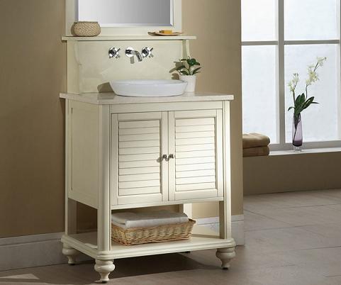 Islander Bathroom Vanity In Tropical White From Xylem