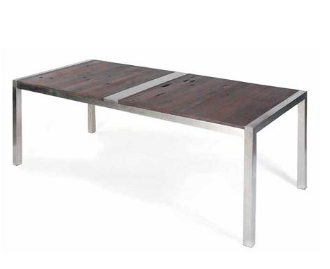 Lien Dining Table In Dark Shipwood From Nuevo Living