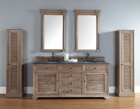 "Savannah 72"" Double Vanity In Driftwood from James Martin Furniture"