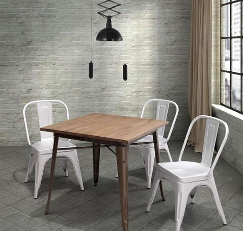 Titus Dining Table With Reclaimed Wood Top From Zuo Modern