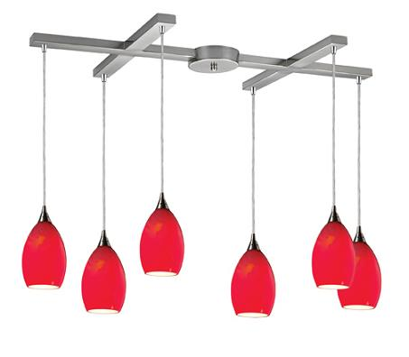 Tranquility 6 Light Pendant In Pomegranate From Elk Lighting