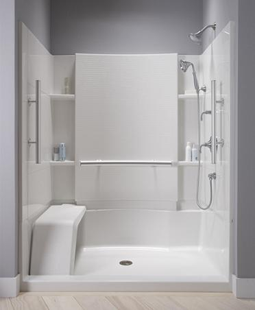 A Built In Seat, Low Step In, Grab Bars, Hand Shower, And No Slip Floors All Make This Accord Shower From Sterling More Accessible