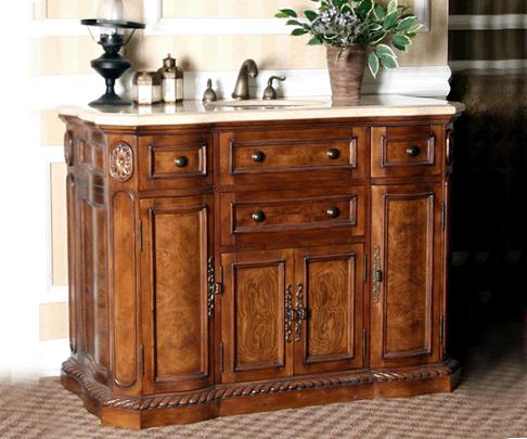 Antique Vanity With Three Drawers And Three Cabinets From Legion Furniture