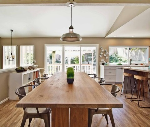 Large Kitchens With An Open Floorplan Can Easily Accommodate More Than One Type Of Seating, Making It Possible To Create A Flexible Layout That Works For Your Family (by Jackson Design & Remodeling)