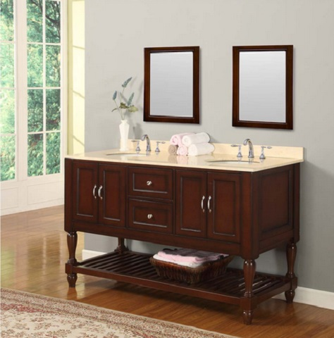 "60"" Mission Turnleg Style Double Vanity From Direct Vanity"