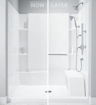 Progressive Age In Place Products, Like This Accord Shower Enclosure From Sterling, Are Designed So Accessibility Features Can Be Added Over Time Without Further Construction