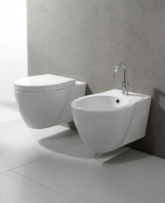 Wall Hung Toilets Like This Panorama Toilet From GSI Can Be Hung At A Comfortable Height, While The Matching Bidet Can Help Improve Personal Hygine