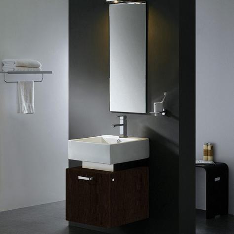 "18"" Single Bathroom Vanity With Mirror And Light From Vigo Industries"