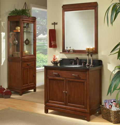 """36"""" Modena Vanity With Cabinet And Mirror From Sagehill Designs"""