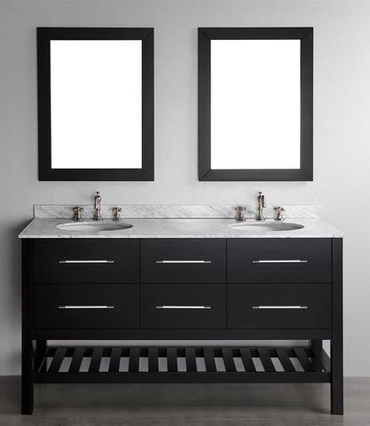 "60"" Contemporary Double Open Shelf Vanity From Bosconi"