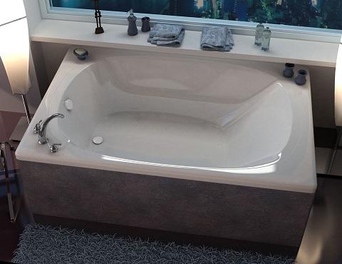 Aqui 48 x 73 Rectangular Soaking Bathtub VZ4878C from Venzi