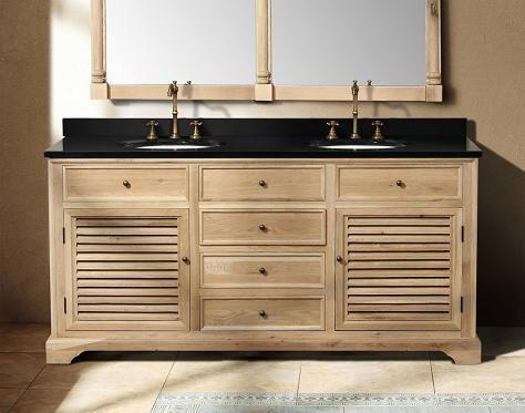 "Savannah 72"" Natural Oak Double Vanity From James Martin"
