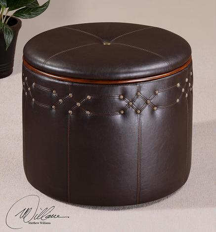 Brunner Small Storage Ottoman From Uttermost Furniture