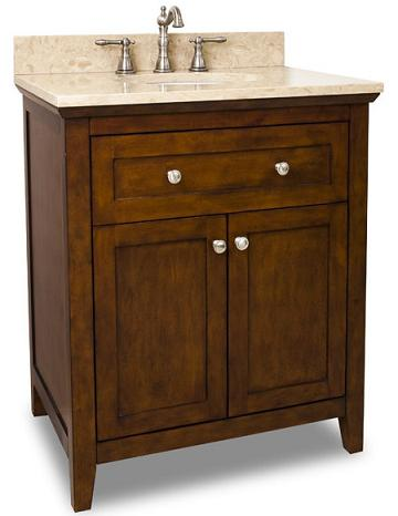 Chatham Vanity From Hardware Resources With Shaker Cabinet Doors