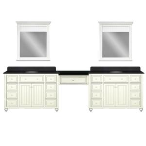 "Cottage Retreat 120"" Double Vanity From Sagehill Designs"