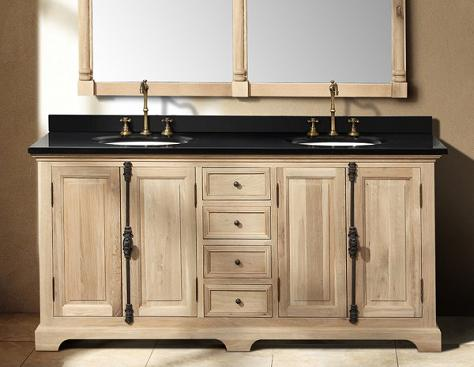 "Providence 72"" Natural Oak Double Bathroom Vanity From James Martin"