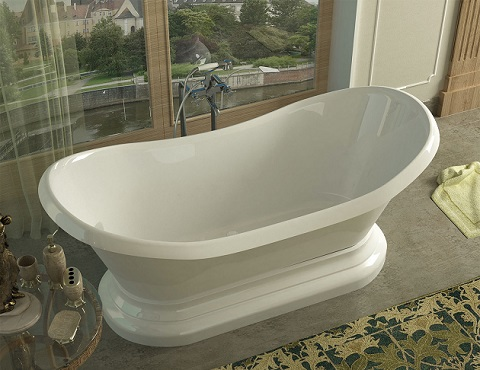 Midas Oval Freestanding Bathtub 34 x 71 x 18 VZ3471RS from Venzi