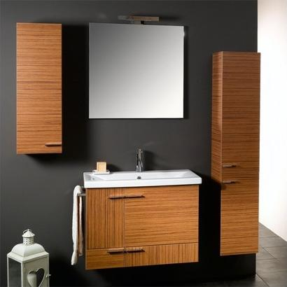 NS8 Simple Vanity From Iotti With Slab Cabinet Doors