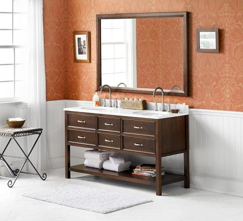 "Newcastle 60"" Wood Vanity Cabinet From RonBow"