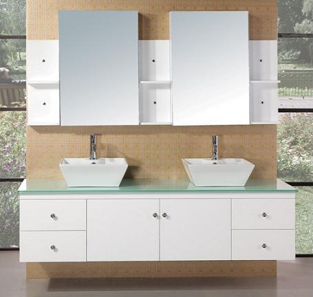 "Portland 72"" Wall Mount Double Vanity From Design Element"