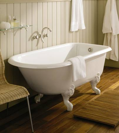 Adding wood elements to a bathroom makes it look and feel warmer