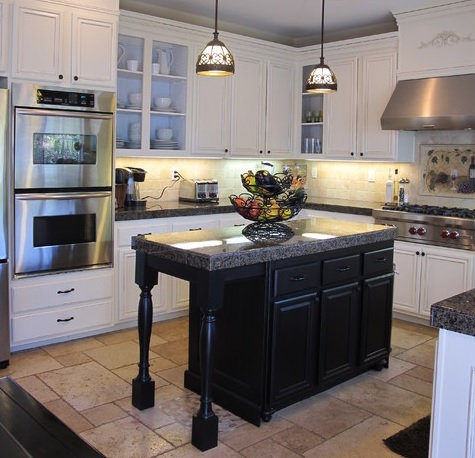 Seven Trendy Ways To Add Contrast To A White Kitchen