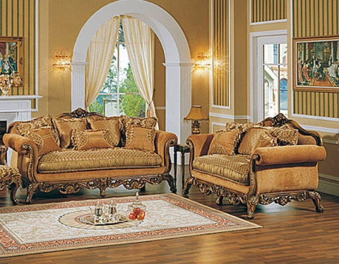 Eden Manor Antique Replica Sofa And Loveseat From AFD