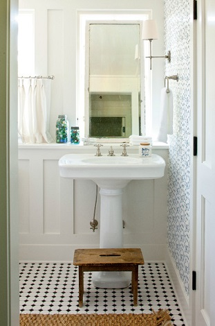 Even The Simplest Pedestal Sink Can Lend A Clean, Classic Appeal To A Bathroom (by Historical Concepts)