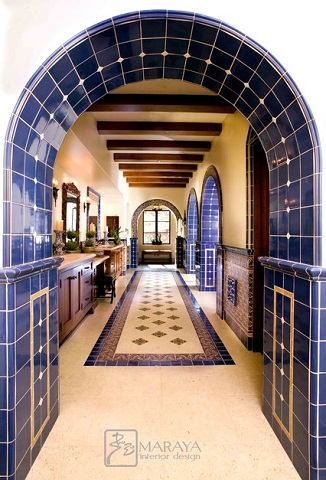 Architectural Arches Make For A Gorgeous Old World Mediterranean Style  Bathroom, But Tile Accents,