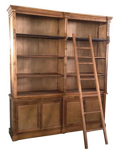 Natural Bookcase With Ladder From Classic Design