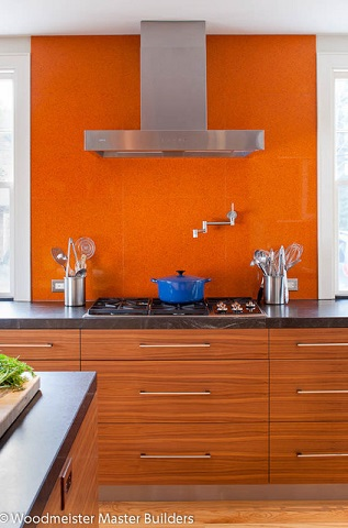 Orange Is Warmer And More Inviting Than Red, But Just As Bold And Striking (by Woodmeister Master Builders)