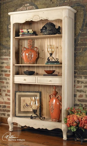Sylvianne Tall Hutch Style Bookshelf From Uttermost