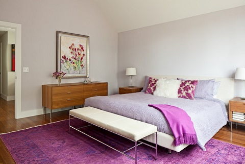 A Large Orchid Area Rug Can Be Used To Define The Space, Setting A Literal Base Color For You To Design On Top Of (by Blink.is Design, photo by Kimberly Davis)
