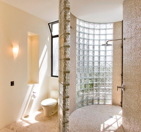 Curved Or Spiral Shaped Walk In Showers Offer A Little More Privacy Than A Barrier Free Shower, But A Similarly Relaxed, Open Experience When You're Actually In The Shower (by House and House Architects)