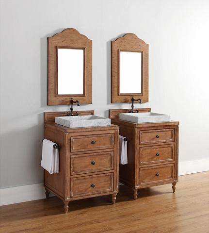 Having two sinks in a master bathroom is crucial to keeping the peace, even if you don't use the bathroom at the same time, so do your best to get two, whether that means having one large vanity or two smaller ones