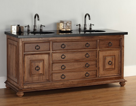 "Mykonos 72"" Double Bathroom Vanity From James Martin Furniture"